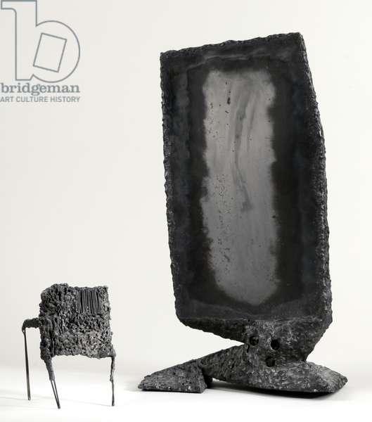 Monolith and Tripod (welded steel)