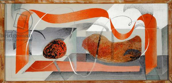 Abstract, 1934 (oil on canvas & collage)