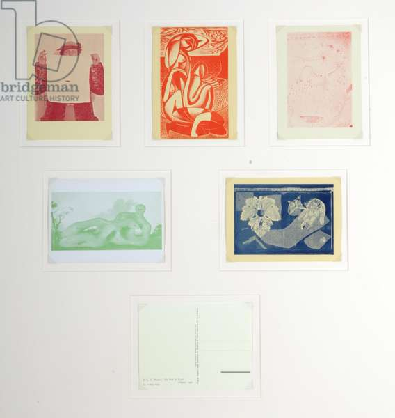 Post cards published by the English Surrealist Group (colour lithos)