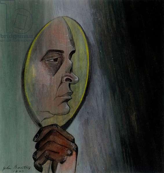 Self portrait, 1942 (pastel & gouache on paper)