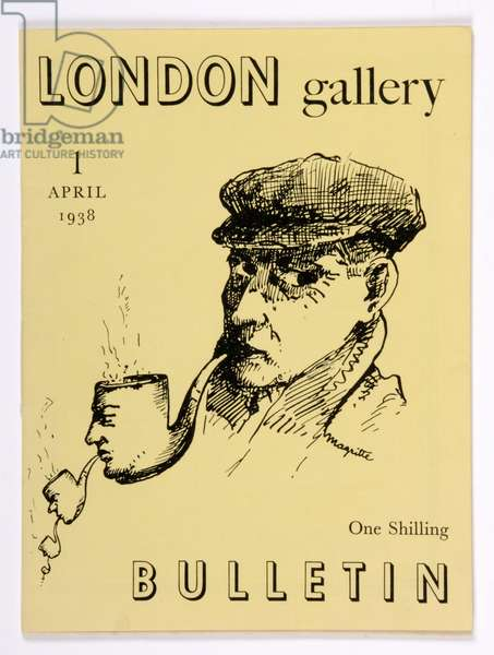 Front cover of the 'London Bulletin', no. 1, April 1938 (litho)