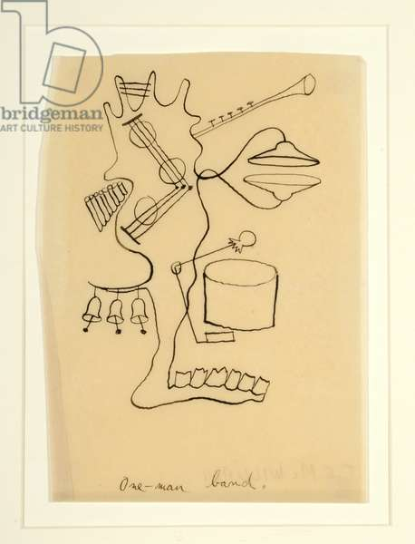 One-man Band, c.1940 (pen & ink on paper)