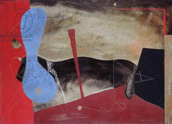 Diablo on the Quay, 1936 (oil on canvas)