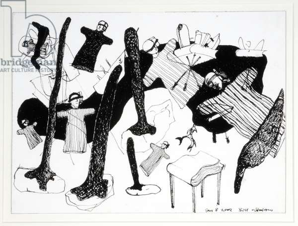 Playing with History, 2002 (ink on paper)
