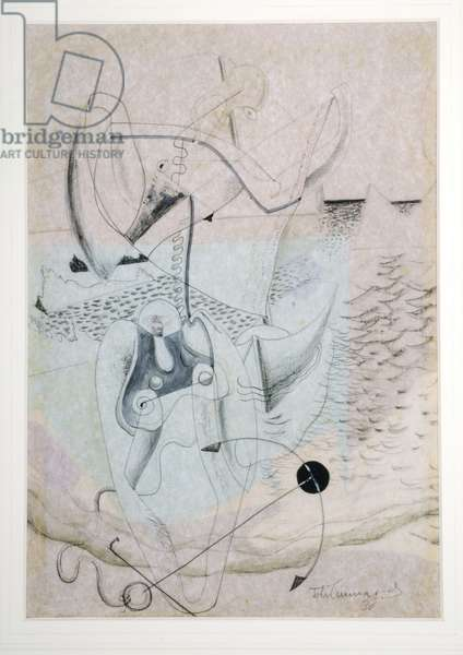 Composition with Anchor, 1936 (mixed media)