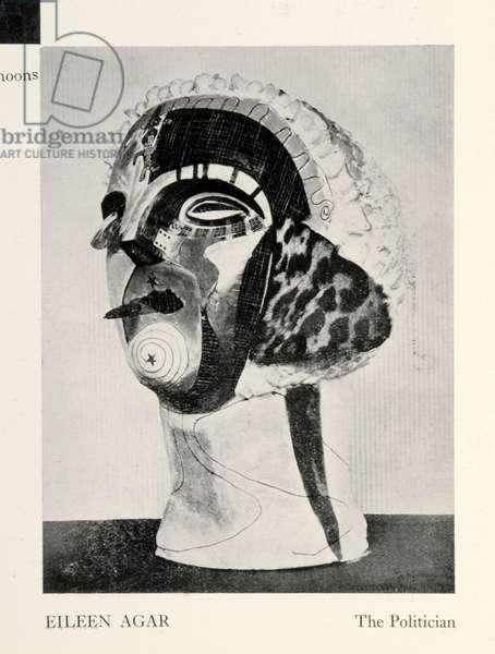 The Politician, 1934 (plaster, collage & w/c)