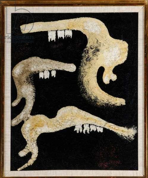 Battle of the Jaw Bones, 1929 (oil on board)