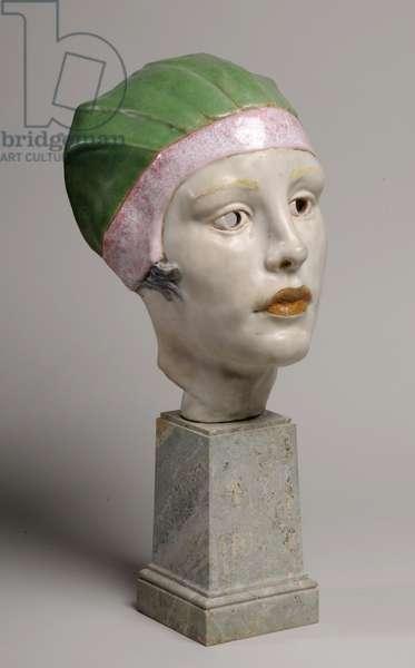 Mask of Woman/ Head, 1925 (Doulton stoneware)