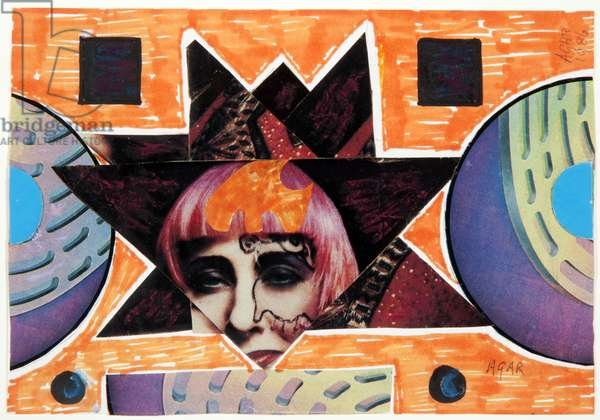 Zandra Rhodes, 1986 (collage)