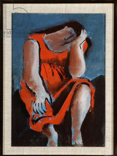 Seated Woman, c.1940 (oil on canvas)