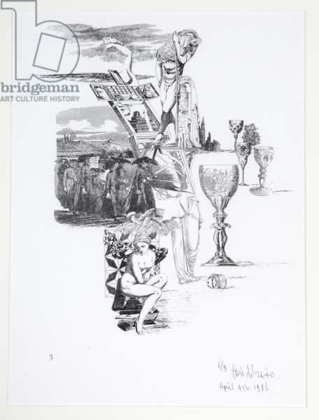 The Communicating Vases, 1/9, 4th April 1986 (etching)