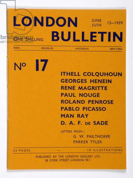 Front cover of the 'London Bulletin', no. 17, June 1939 (print)