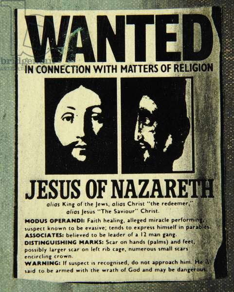 Detail of the WANTED Poster from If You Go Down to the Woods Today, 1993 (oil on canvas & collage) (detail of 446167)