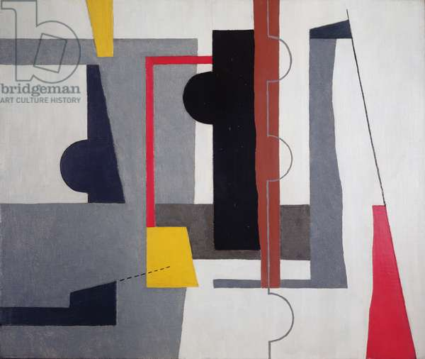Forms on a White Ground, 1935 (oil on canvas on board)
