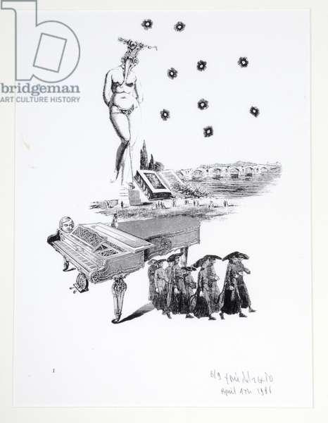 The Dark Constellation, 6/9, 4th April 1986 (etching)