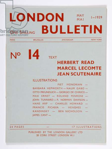 Front cover of the 'London Bulletin', no. 14, May 1939 (print)