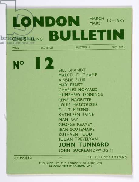 Front cover of the 'London Bulletin', no. 12, March 1939 (print)