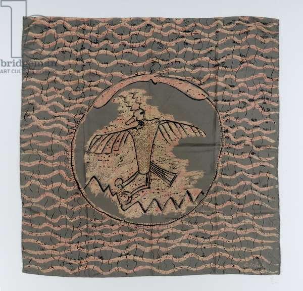 Bird scarf, 1945 (crepe silk)