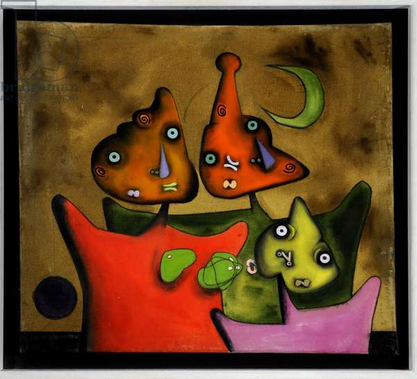 Family Group, 1960 (oil on canvas)