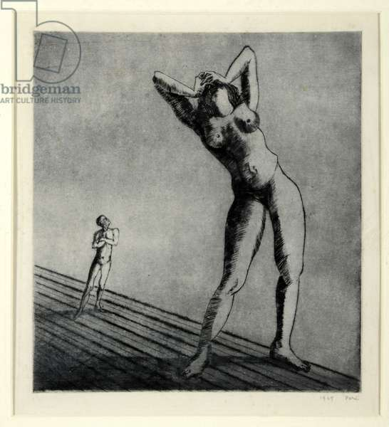 My Ideal Woman, 1949 (etching)