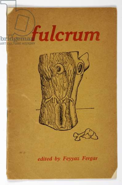 Front cover of 'Fulcrum', edited by Feyyaz Fergar (1919-93), July 1944 (colour litho)