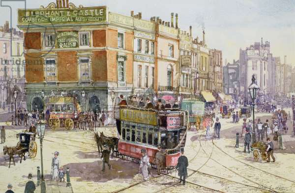 Elephant and Castle, c.1890 (w/c on paper)