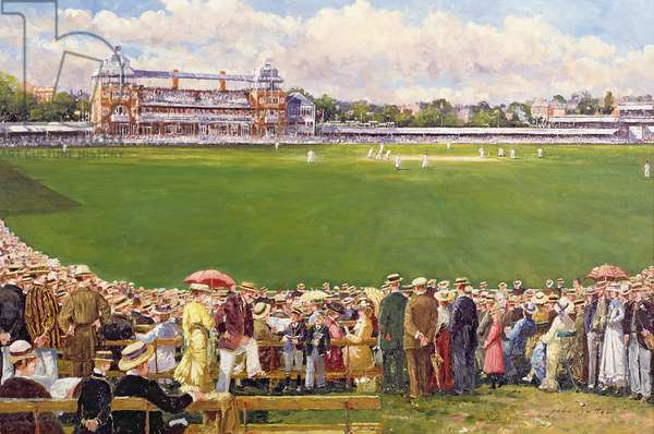 A Test Match at Lord's, England V Australia, c.1900