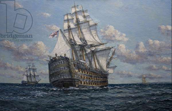 'Victory' flagship of Vice Admiral Lord Nelson, 2010 (oil on canvas)