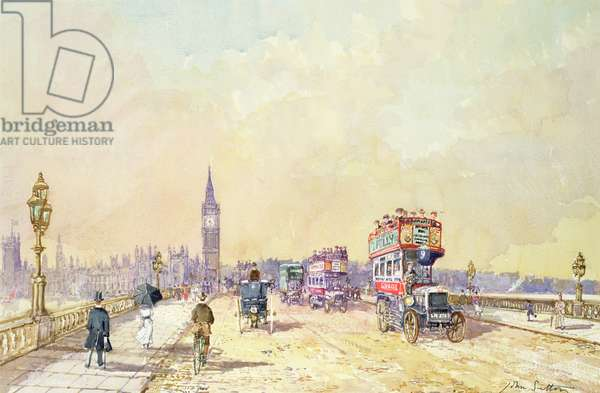Traffic on Westminster Bridge (w/c on paper)