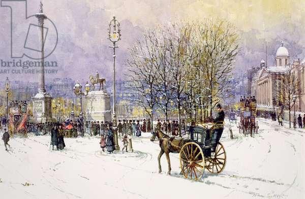 A Winter's Day, Trafalgar Square, c.1897