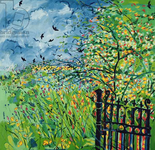 The Gate in Morfa Terrace (oil on canvas)