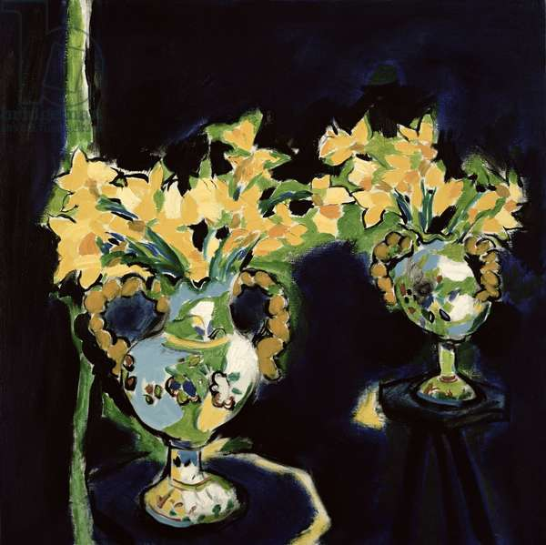 Flowers Streaked with Gold, 1991 (oil on canvas)