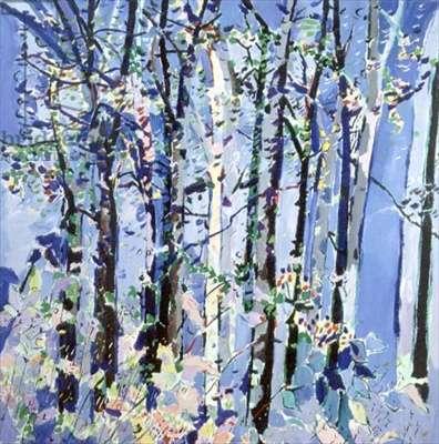 Heather's Woods (oil on canvas)