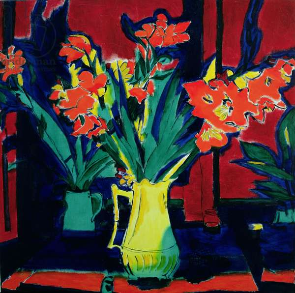 Flowers for Miguel Cervantes (oil on canvas)