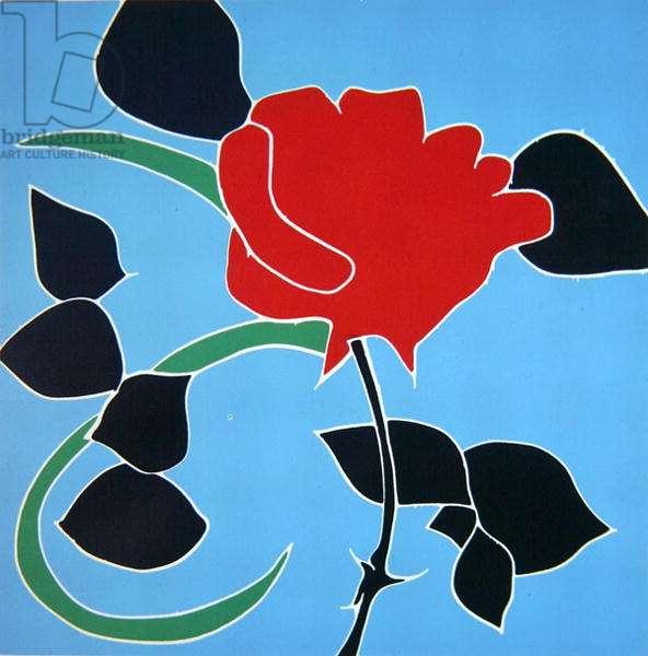 Fiji Rose, 1973 (jigsaw woodcut)