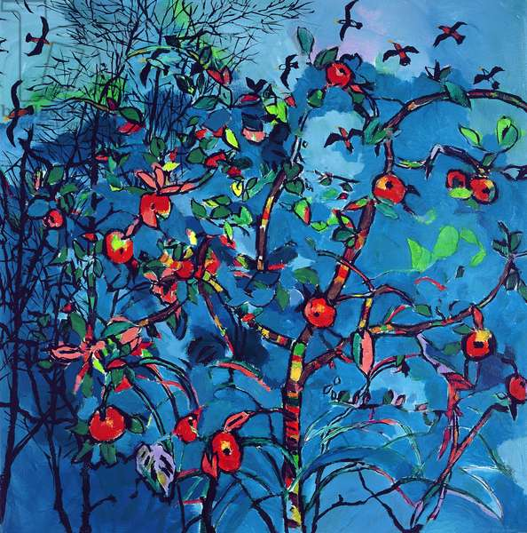 The Trees Are Brilliant With Apples! 2001 (oil on canvas)