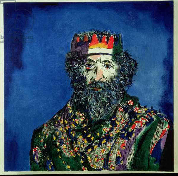 The King, self portrait as King Lear, 1991 (oil on canvas)