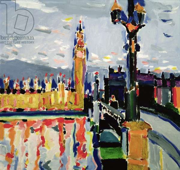 Westminster, London, 1988 (oil on canvas)