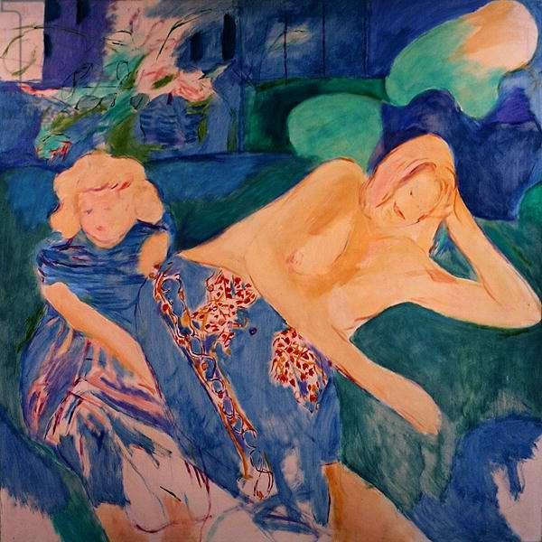 Heather and Saskia, 1967 (oil on canvas)