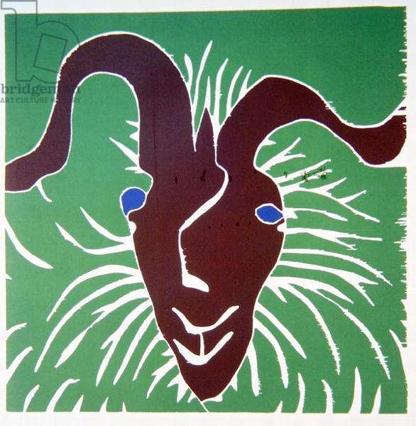 The Goat, 1976 (jigsaw woodcut)