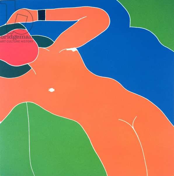 Nude Girl, c.1966 (jigsaw woodcut)
