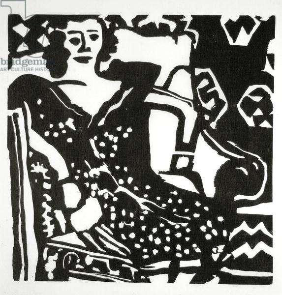 Doreen, 1960 (woodcut)