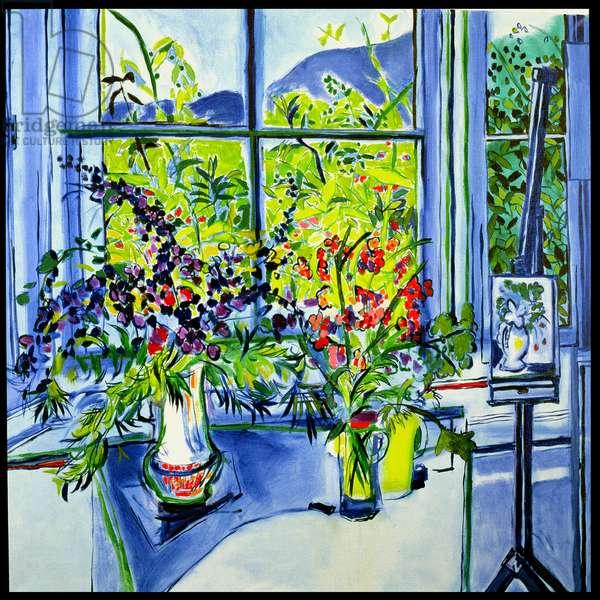 Saskia's Flowers, 1991 (oil on canvas)