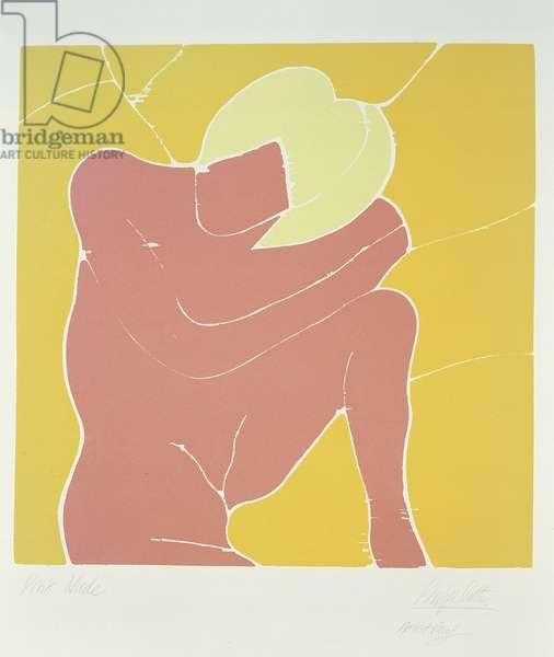 Pink Female, c.1967 (jigsaw woodcut)