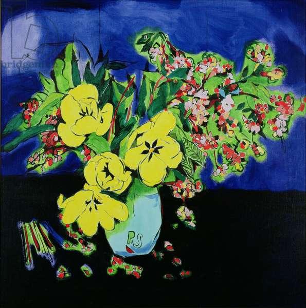 Tulips, 1989 (oil on canvas)