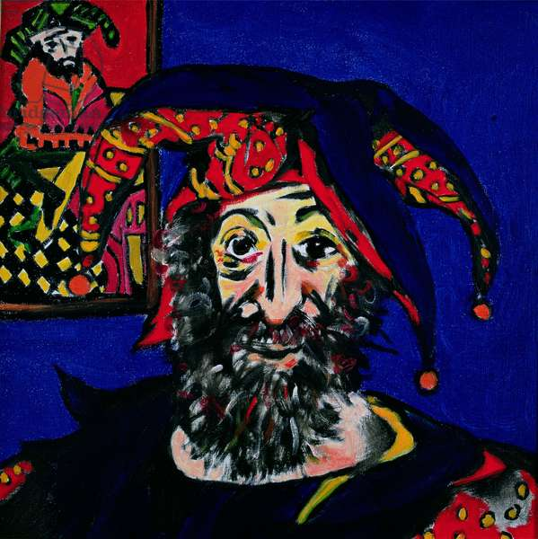 The Tarot Clown, self portrait, 1991 (oil on canvas)
