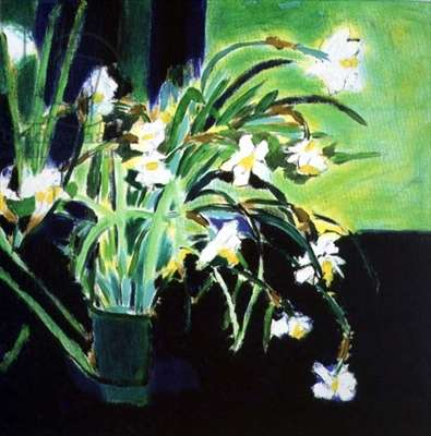 Flowers from Tenby 1991 (oil on canvas)