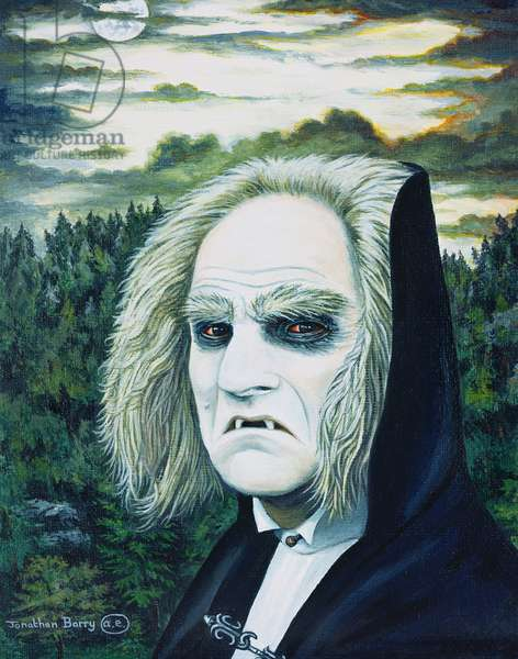 Count Dracula, 1999 (oil on paper)