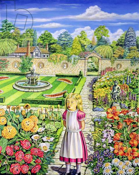 The Garden of Live Flowers, 2000 (oil on canvas)