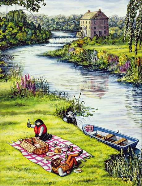 The Riverbank, 1998 (oil on canvas)